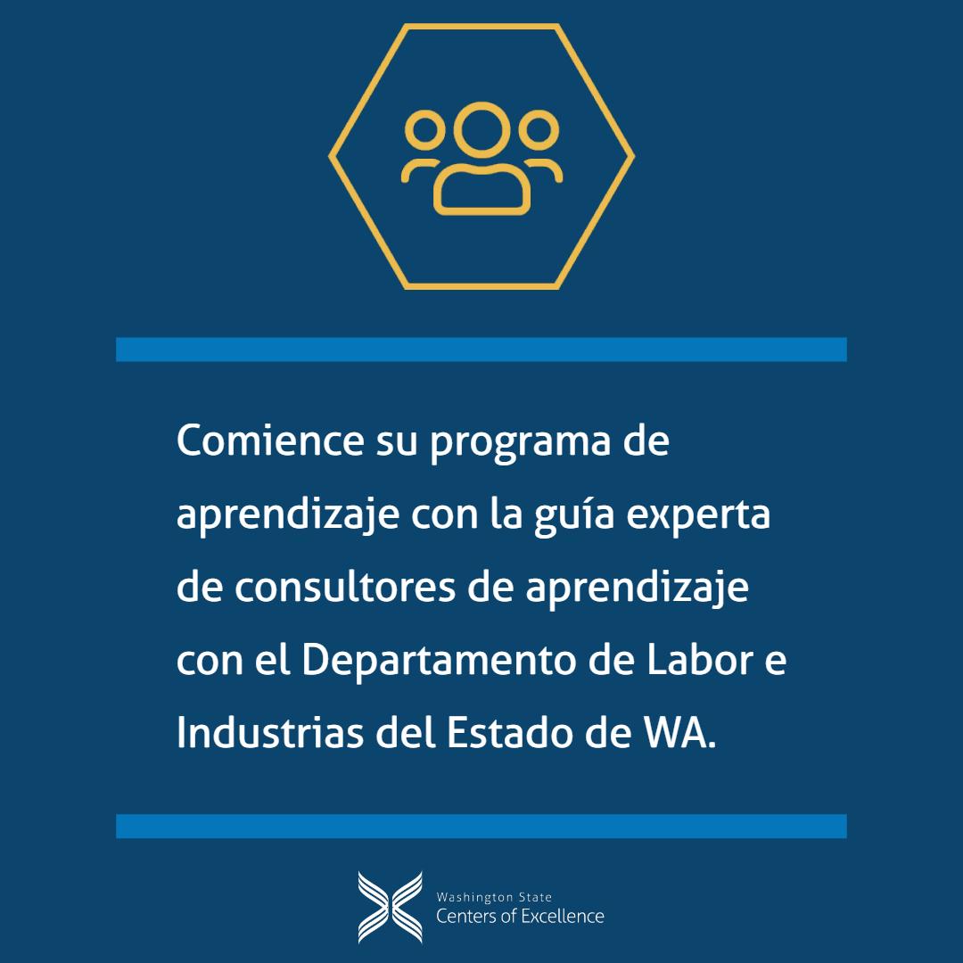 Comience su programa de aprendizaje con la guía experta de consultores de aprendizaje con el Departamento de Labor e Industrias del Estado de WA.