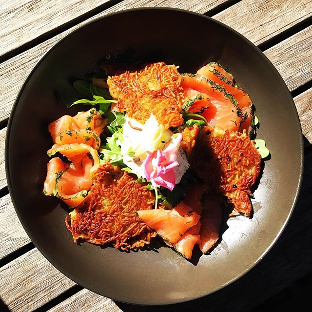 We're changing our menu very soon but this dish is a keeper... what's not to live about potato rosti and our cured salmon #burrawang #burrawangvillage #burrawanggeneralstore #visitsouthernhighlands #southernhighlands