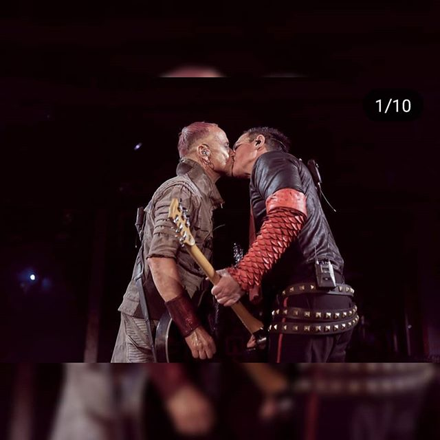 From Germany, with love. . . . . . @rammsteinofficial #rammstein #lgbt #lgbtq #gay #kiss #guy #russia #law #live #show #metal #music