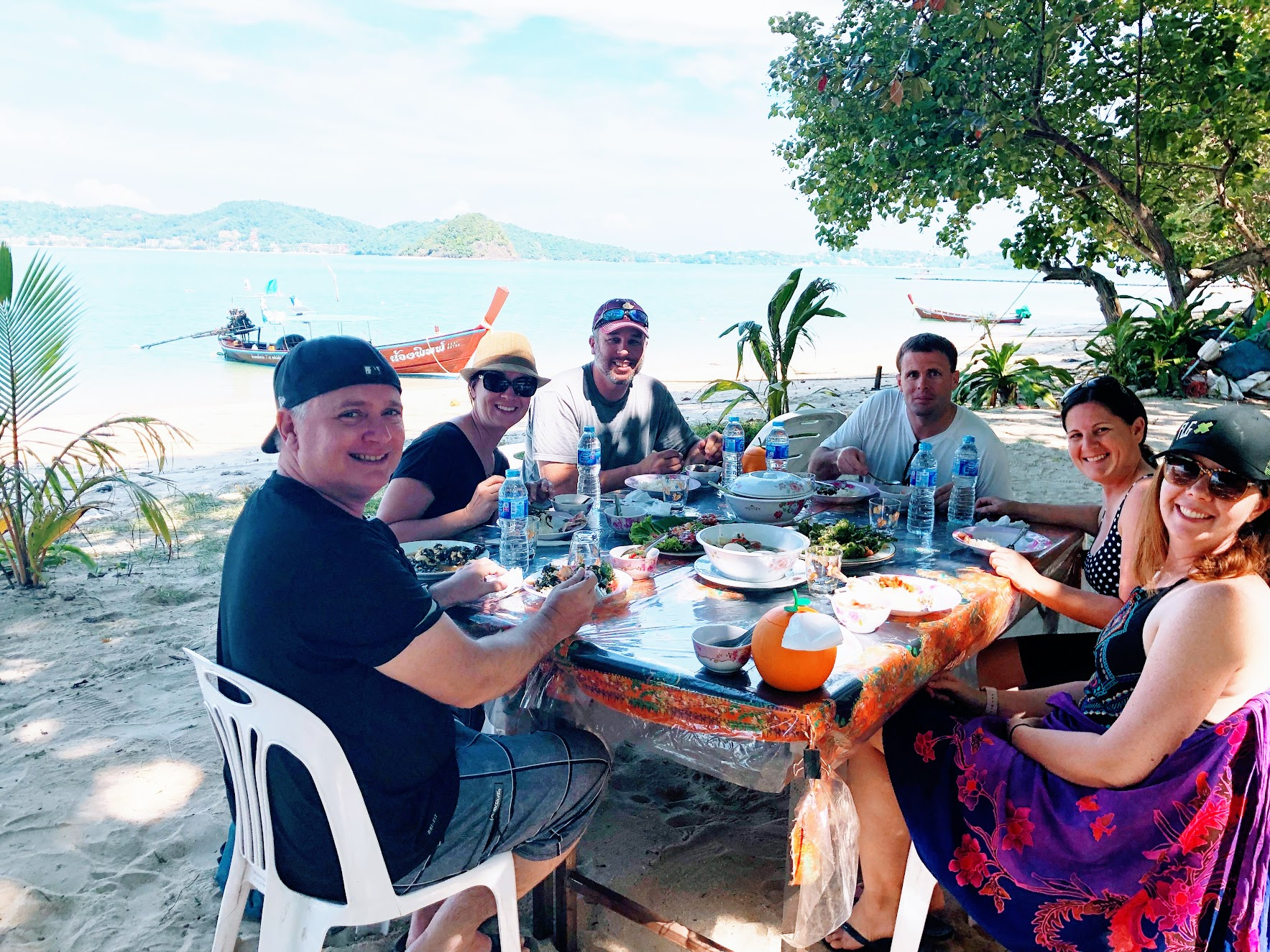 Enjoying lunch on a private island off of Phuket, Thailand.