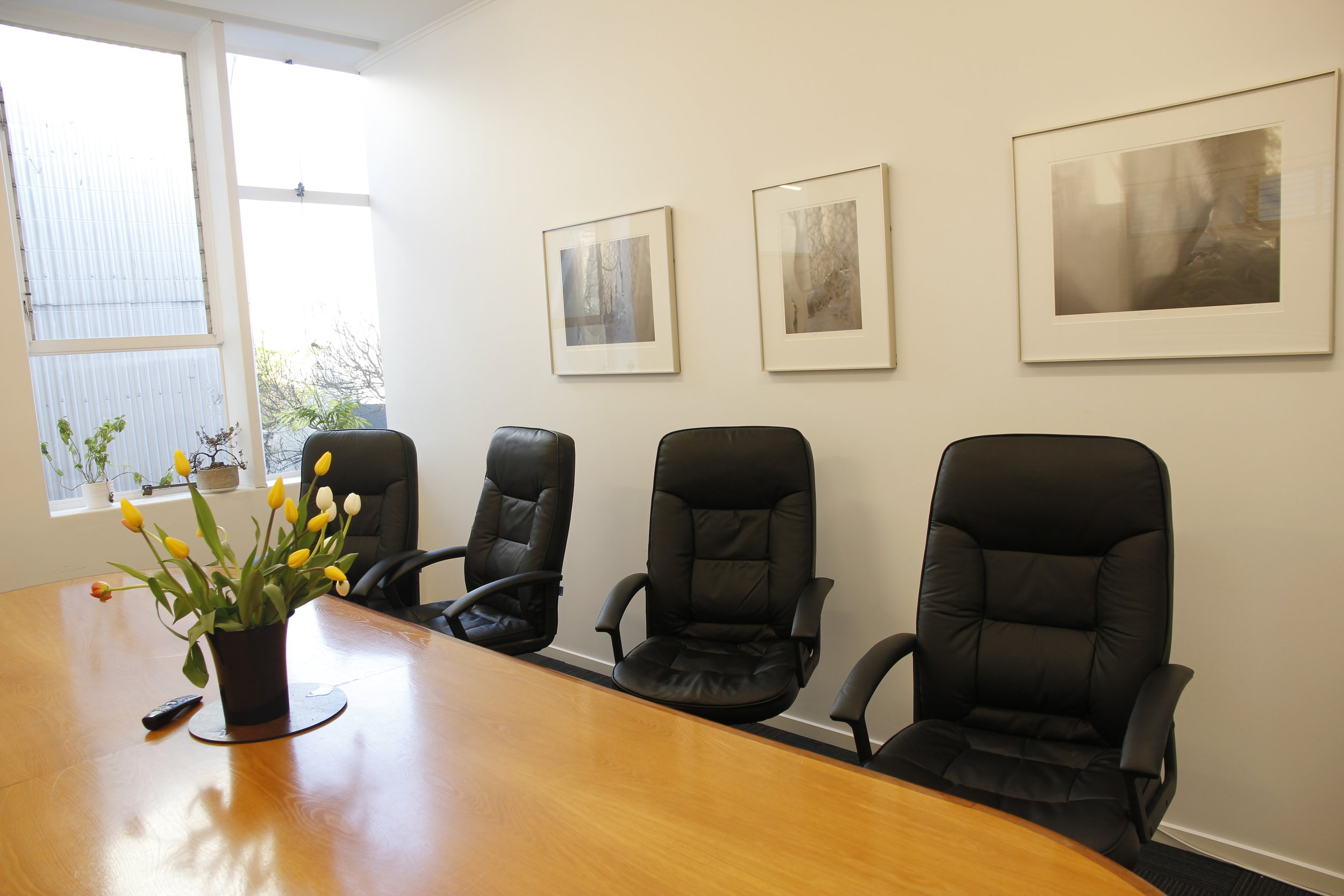 The board room offers the perfect space to host clients