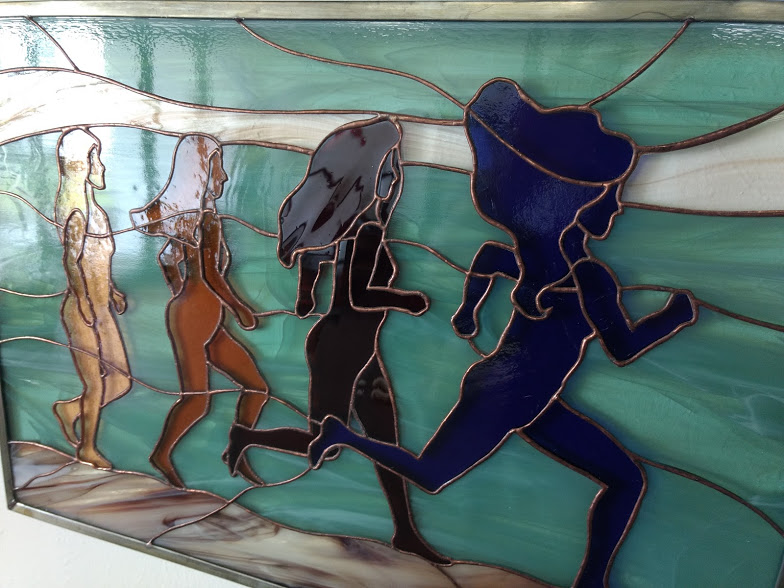 """Go"" stained glass by Colleen Clifford"