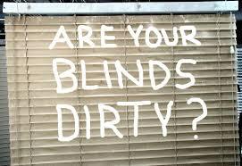blind cleaning - are your blinds dirty? -Lovitt Blinds & Drapery - www.lovittblinds.com