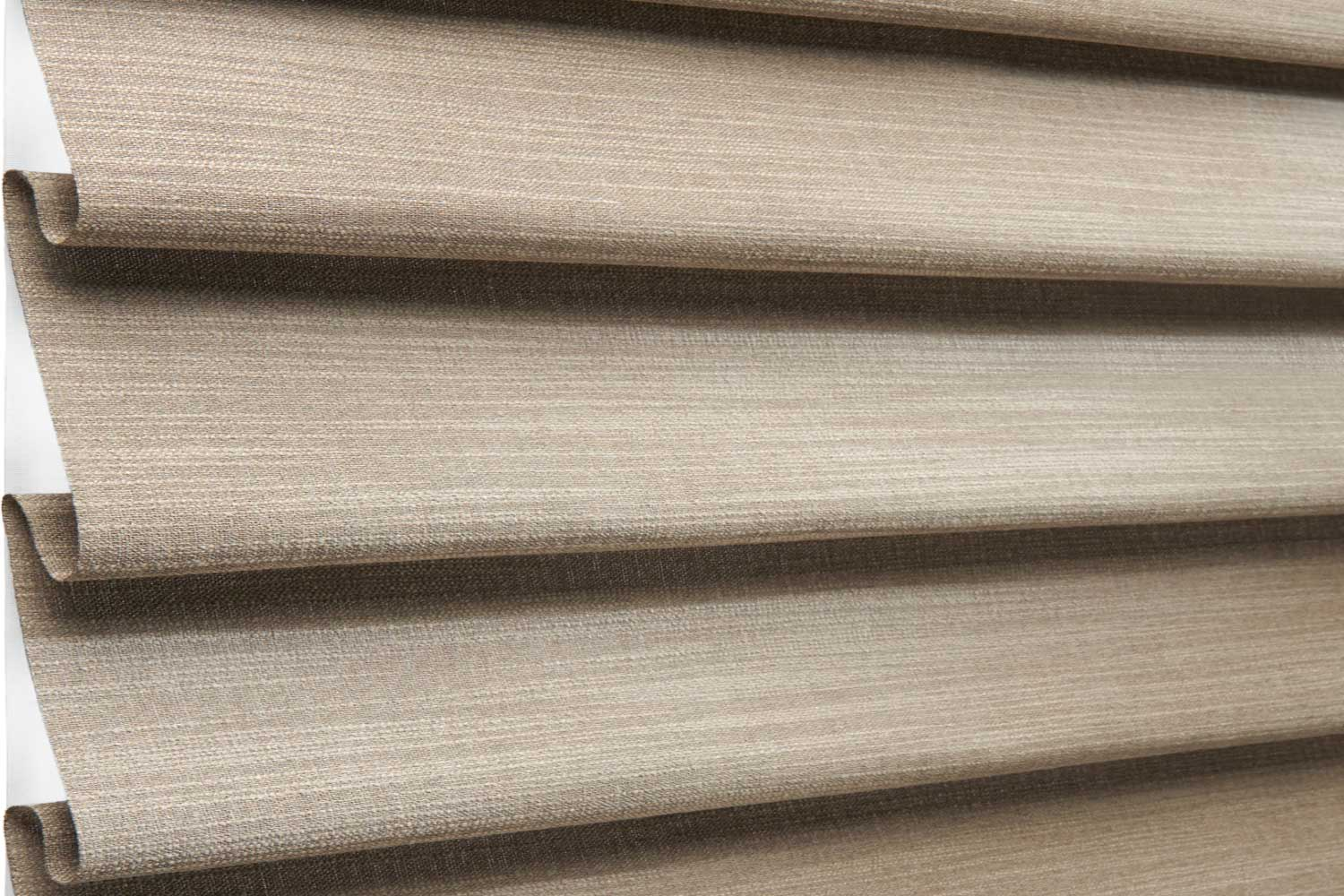 THE PERFECT ROMAN SHADE - Imagine a Roman shade that has uniform, contoured or flat-fabric folds, and no exposed rear cords. We've eliminated all the issues from the standard Roman, and created a flawless modern shade.