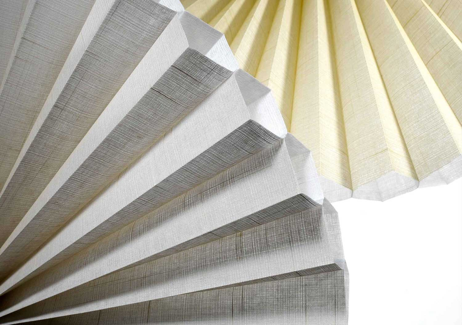GORGEOUS FABRIC OPTIONS - Duette® Honeycomb Shades are available in numerous colors, patterns and textures to match any decor. We travel the world to find luxurious fabrics to create window treatments that enhance your interiors, while insulating and providing light diffusion and privacy.