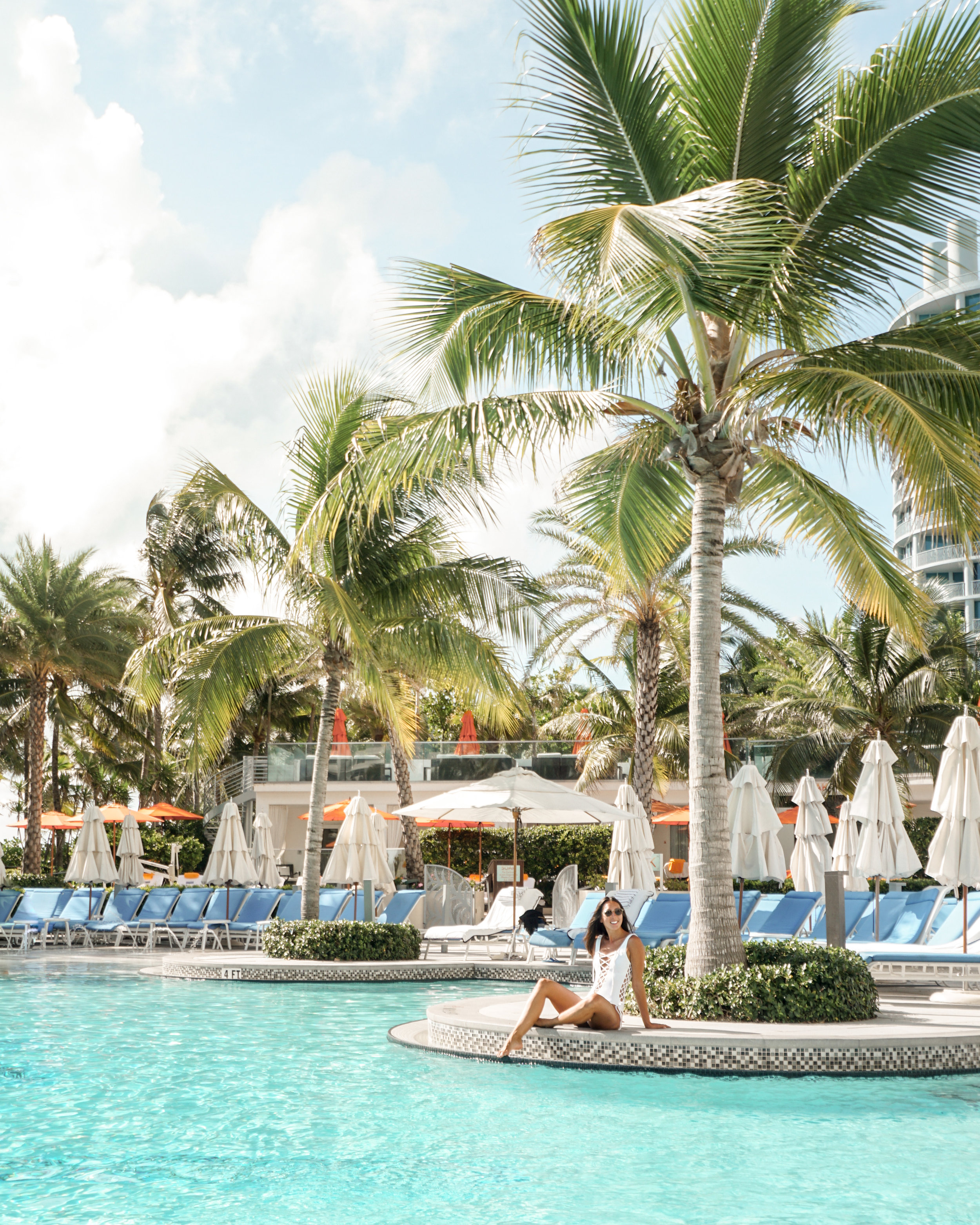 The pool at the  Loews Miami Beach Hotel