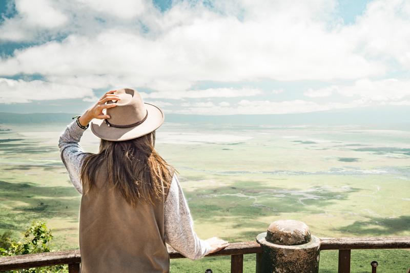 Overlooking the Ngorongoro Crater