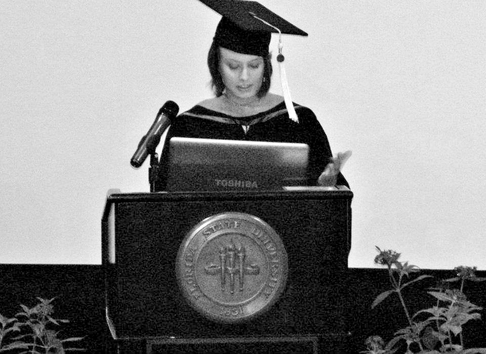 Presenting my Valedictory Speech at Florida State University (2012)