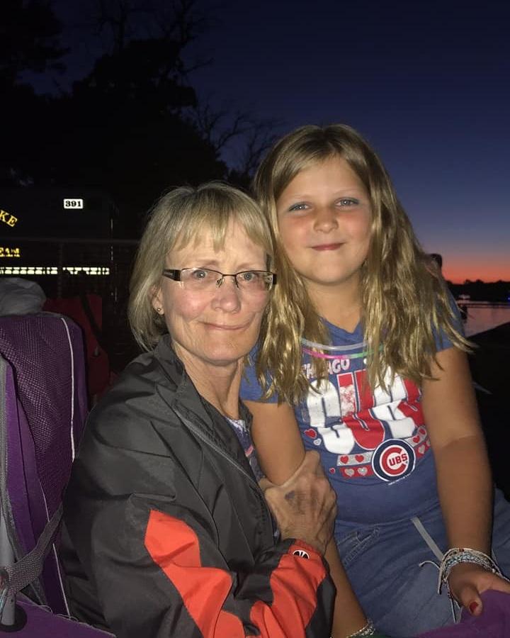 Debbie enjoying Main Beach with her family -