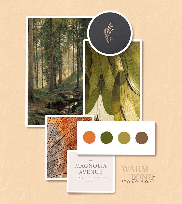 Happy Mood Board Monday to us all! Today let's think about warm colors and natural textures. The brand that wears a style like this is one that wants to make their patrons feel welcome and comforted. What business do you think would sport these colors well?