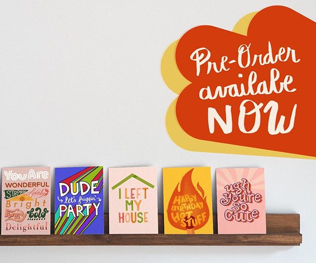 Well, here it is. I'm launching my first ever collection of BIRTHDAY CARDS!  If you would like to support my launch you can now place a pre-order. Link in bio!
