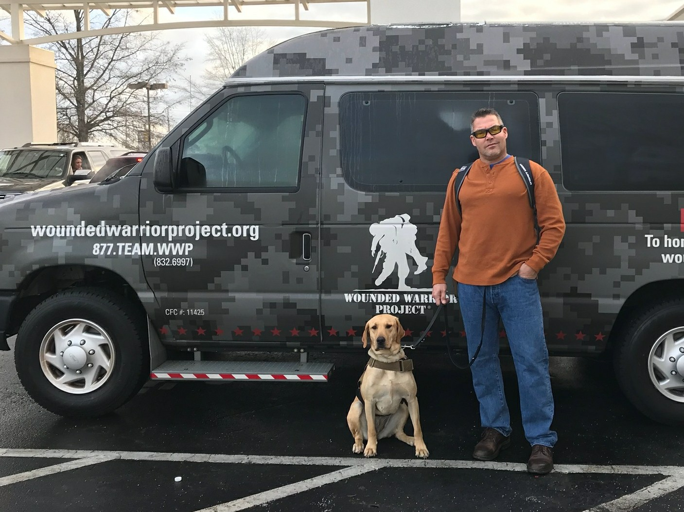 Rob and Liberty have been on some amazing adventures including this WWP, retreat. They initially told him that Liberty would need to stay home, then they met Liberty and realized she was properly trained. She is now welcome at any Wounded Warrior Project function.