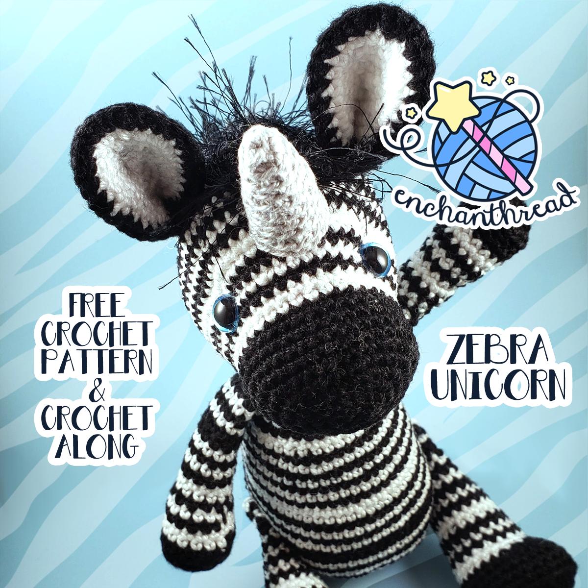 Azalea the Zebra Amigurumi Pattern - Amigurumi ZA | 1000x1000