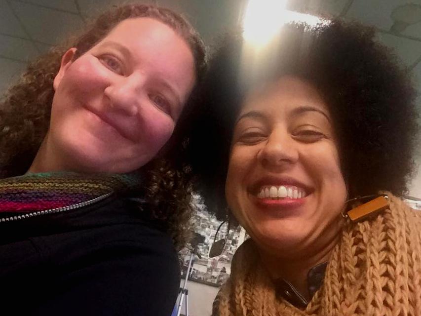 Megan (left) and Erin Jones (right) at a recent event.