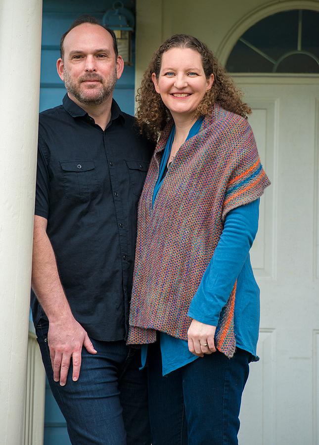 Megan con su marido, Ty.