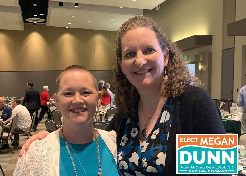 Everett City Councilmember Liz Vogeli and Megan Dunn at a recent event