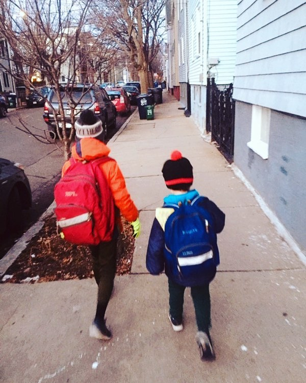 """""""Every morning I wake up these two boys, feed them breakfast and walk them to the school bus, at sunrise this time of year. Most nights, the news gods willing, I'm home for bedtime, too. I want a contract that helps me be there for my kids."""" — Tim Logan, real estate and development reporter"""
