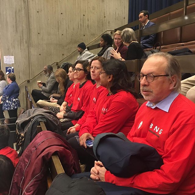 At City Hall Plaza awaiting City Councilor Lydia Edwards' resolution supporting the Guild and WBUR's union. (Look for live video soon.)