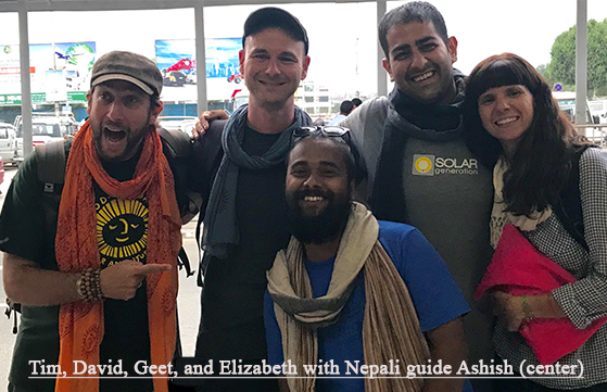 Our History - Elizabeth Koelmel, David Becker, Tim Sutton and Geet Sharma started Woodstock Travels in 2017 after completing a fourth service learning trip to India and Nepal with students from upstate New York. They were inspired to continue and expand these life-changing experiences for people of all ages.On the ground in India and Nepal, we work with highly experienced local guides, small businesses, and activists who provide historical information and context for the sites we visit. Additional Woodstock Travels team members include attorney Hal Denton, General Counsel & Chief Risk Management Officer for student exchange organization AFS, one of the largest organizations of its kind in the world; and international insurance consultant Fiona Lally.For five years we have organized unique and inspiring service learning trips to Nepal and India. Woodstock Travels (formerly Khusi Hona Woodstock) provides life-changing experiences through international service partnerships, art programs, media projects, and the magic of travel and adventure. What started with 3 students grew to include over 30 students from 6 schools with more than 10 partner organizations in India and Nepal.