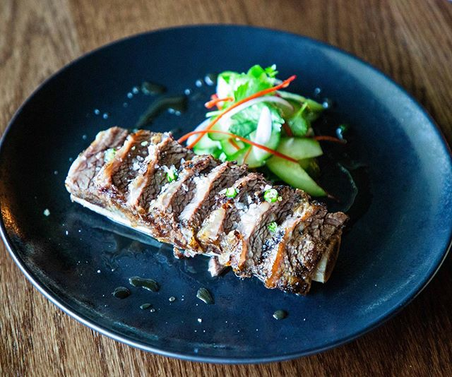 Beef Short Rib // Twice cooked grass fed Cape Grim short rib, sweet fish sauce, cucumber relish. . . . . . . .  #vego #healthy #asianfood #foodbyfreddie #plating #sydney #sydneyeats #sydneylocal #eatsydney #nubambu
