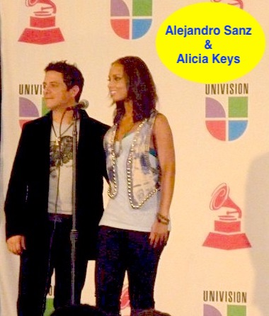 Latinos FM at the Latin Grammy with Alicia Keys and Alejandro Sanz .jpg