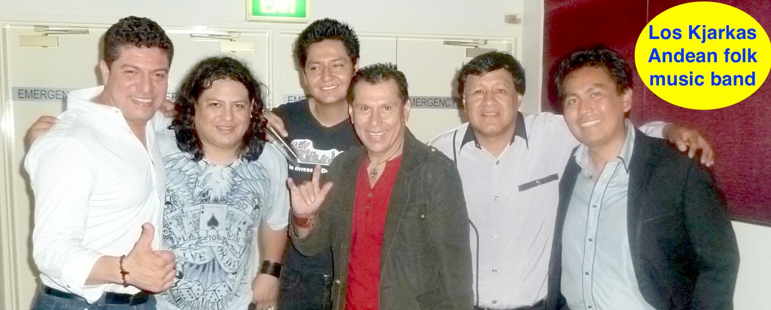 Kjarkas with Jaime Crispin & Angel Montoya from Latinos FM.jpg