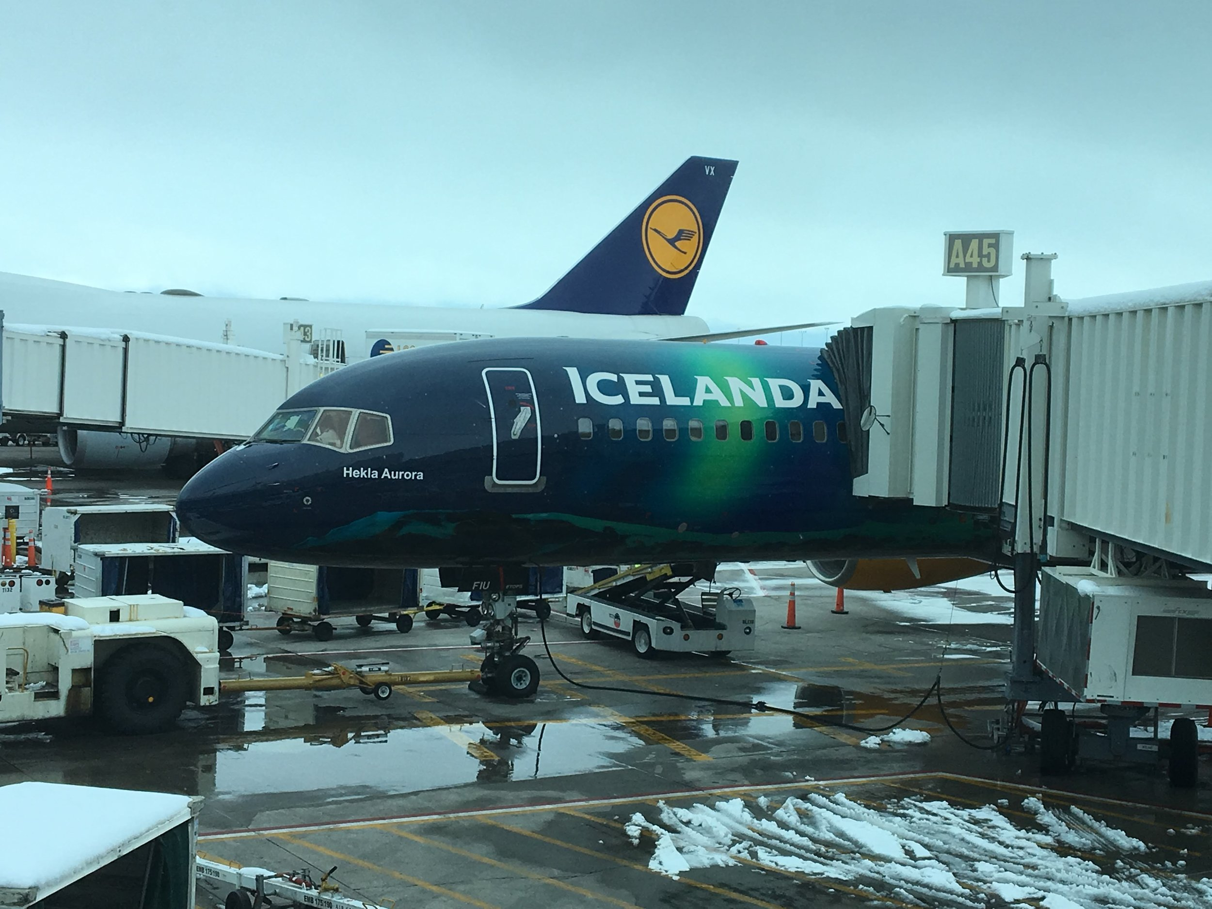 Our Plane to Iceland on Icelandair