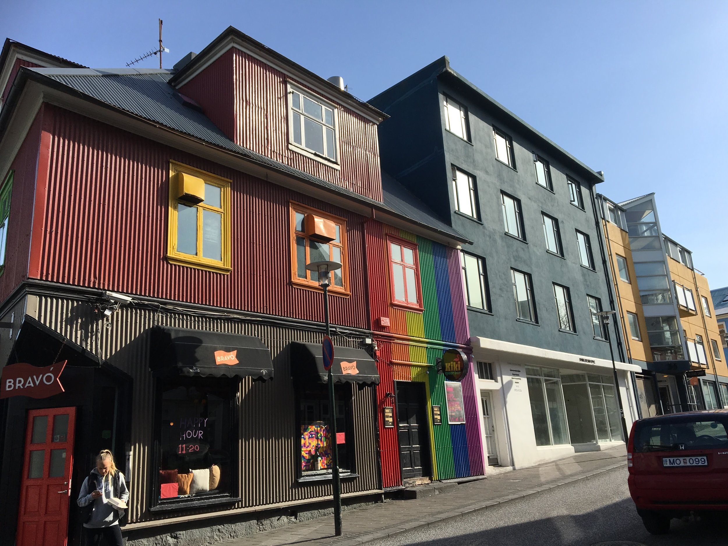 Iceland buildings on street - 55 by 55 Travel