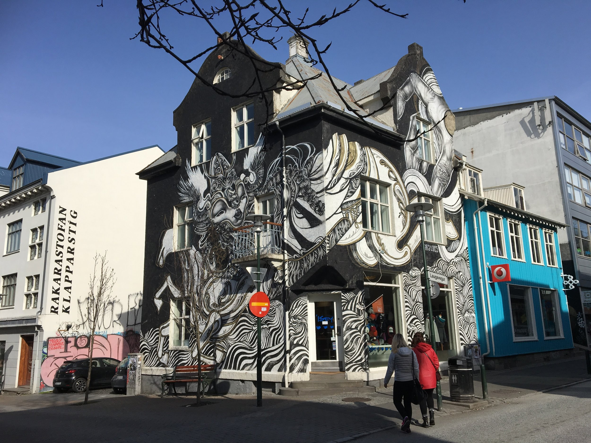 Painted Building- Iceland - 55 by 55 Travel
