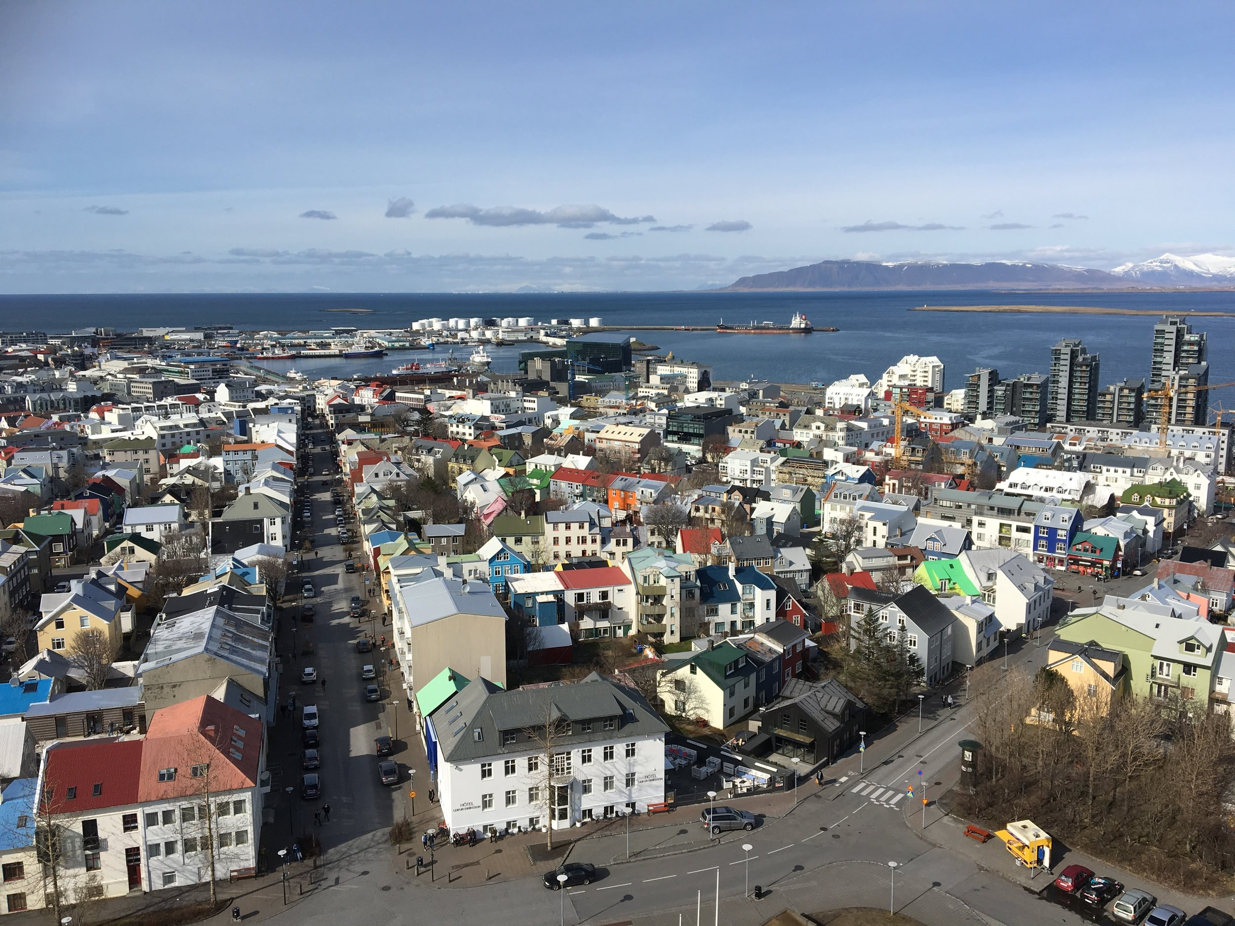 Rooftops in Reykjavik - 55 by 55 Travel