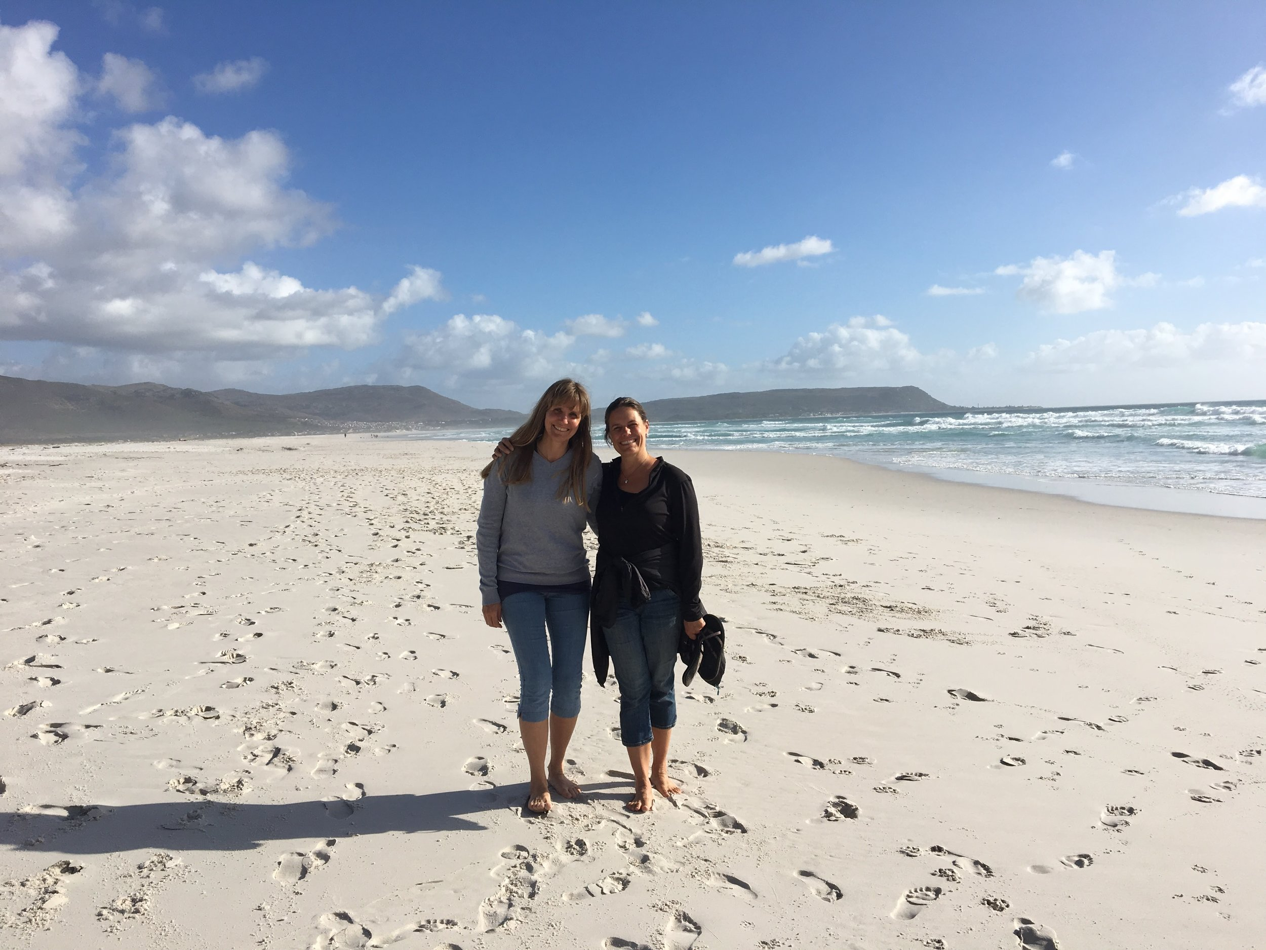 with my sister at noordhoek beach.JPG