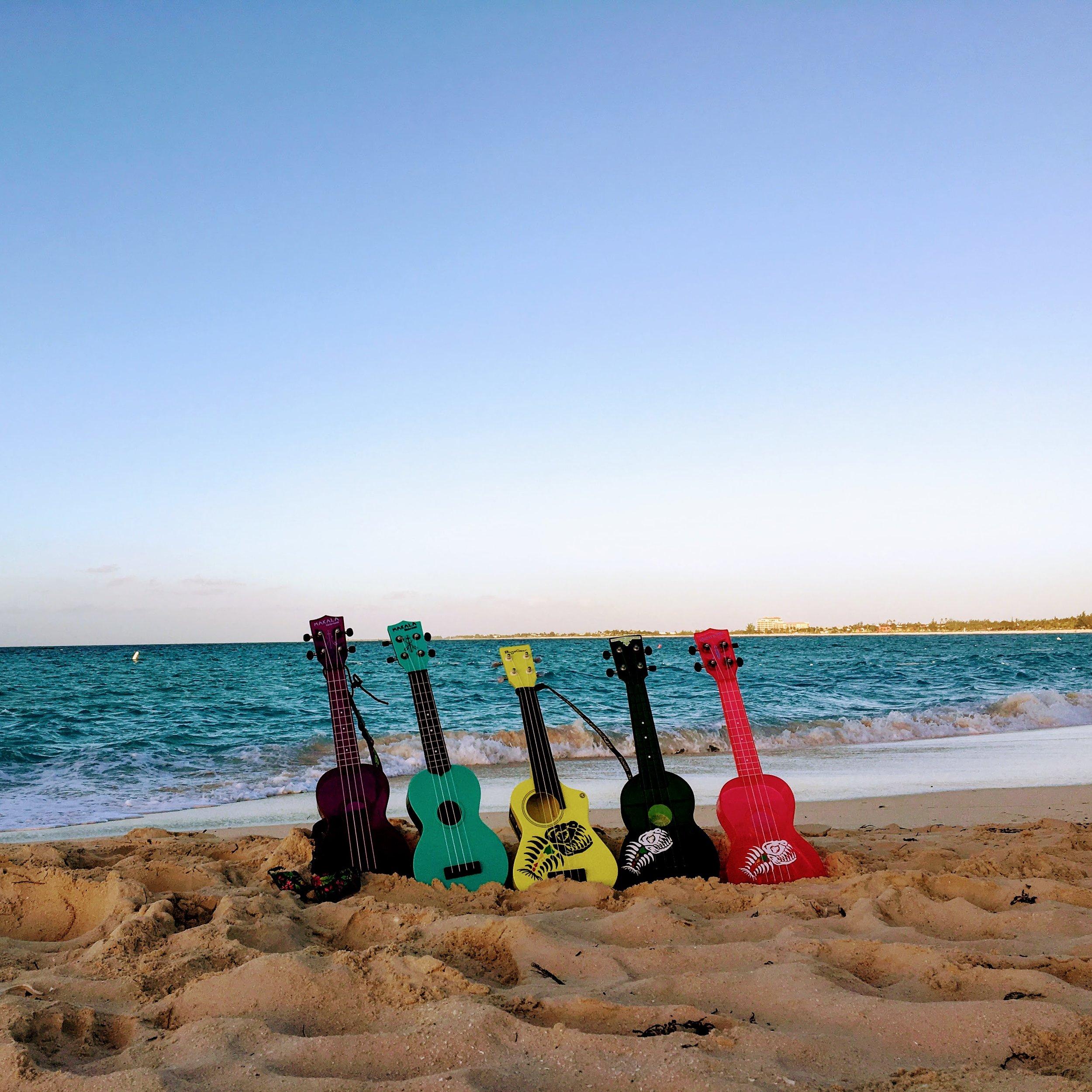 Ukuleles at Grace Beach, Turks&Caicos.JPG