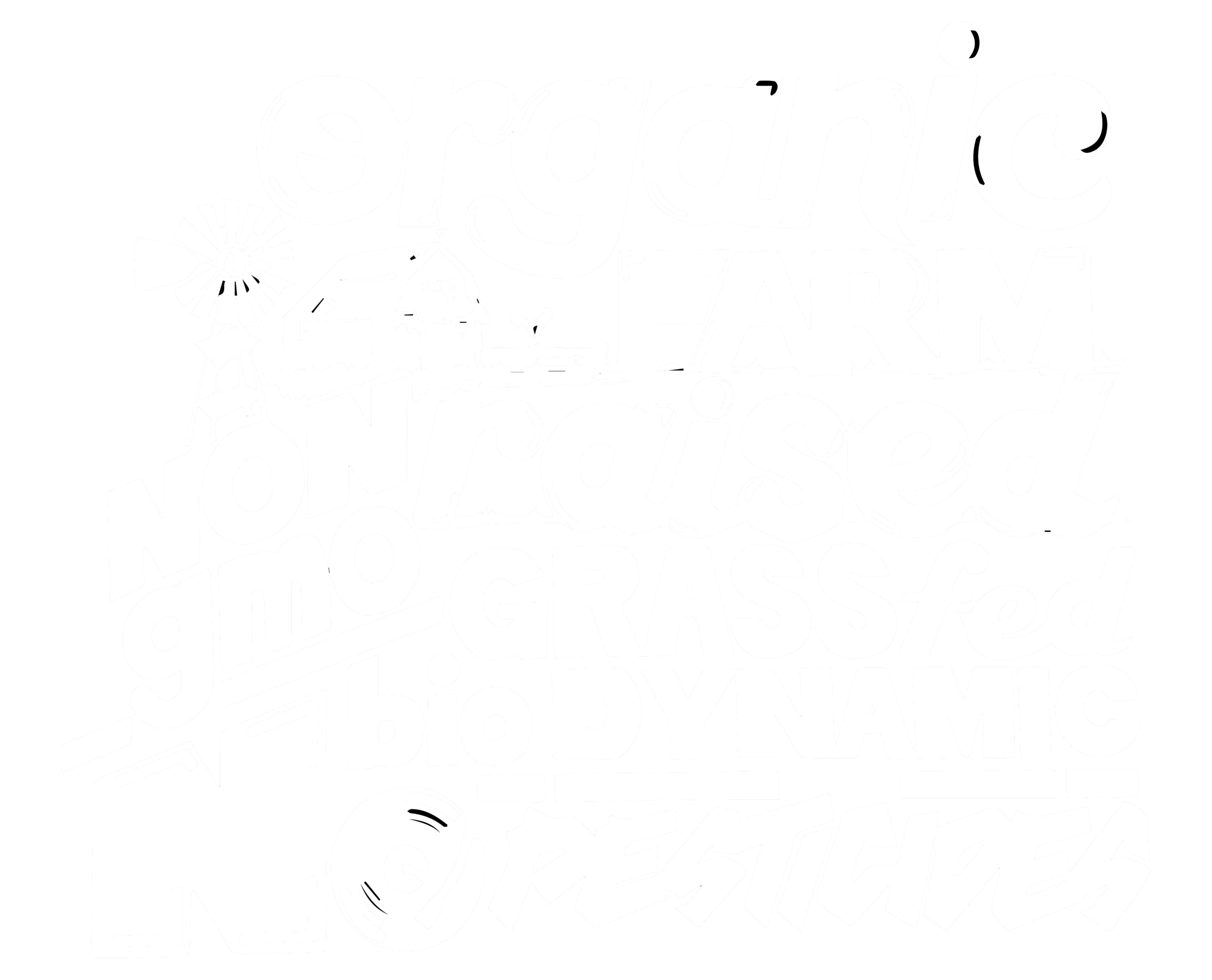 organic, farm raised, non-gmo, grass-fed, biodynamic, no pesticides
