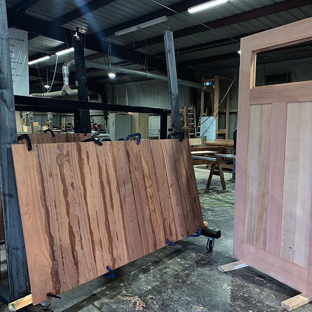 Door magic happening at the shop. #customdoors #build #doorsofinstagram #door #swingdoorcompany