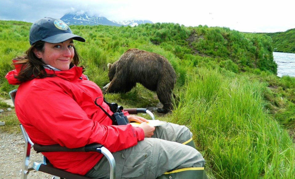 July - human behavior is controlled by ADF&G staff to minimize impact on bears.