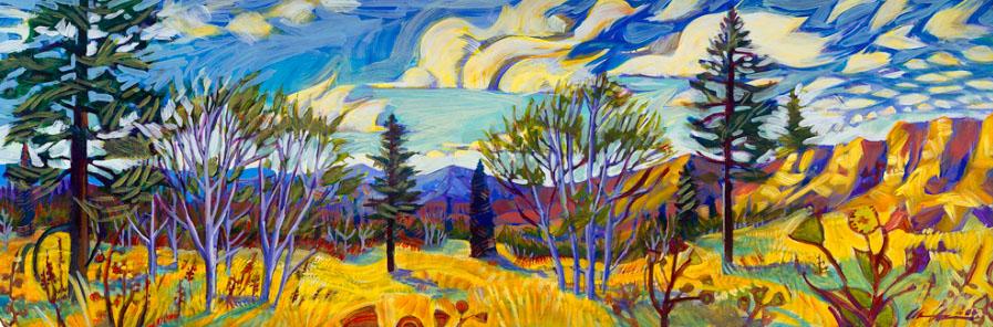 Horizontal Landscape Painting