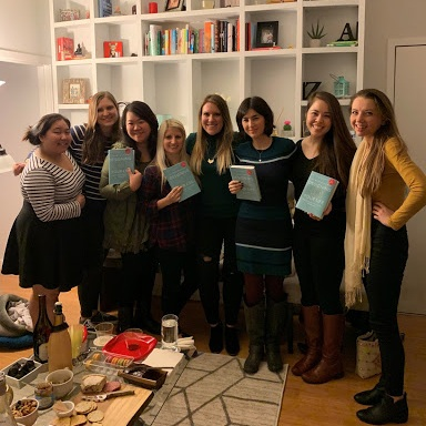 Spinsters at our Professional Development bookclub potluck