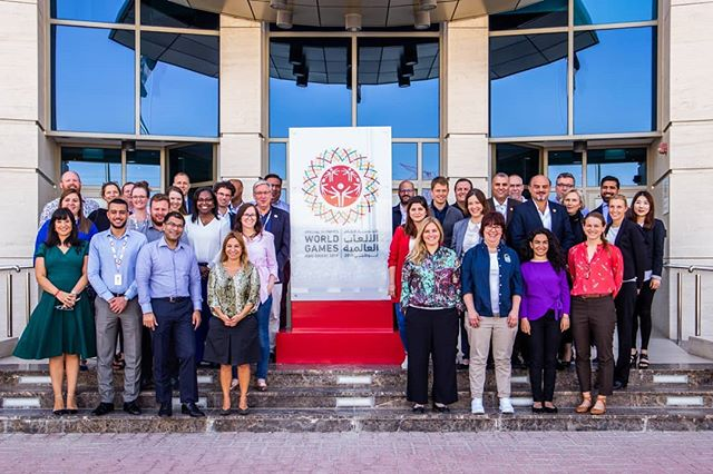 We were honored to host key officials from @SpecialOlympics, Local Organizing Committees for @WorldGamesSWE and #Berlin2023 this week to help ensure the next World Games are a huge success, building on the legacy of the largest and most unified Games in the 50-year history of #SpecialOlympics, which took place in Abu Dhabi this March. #AbuDhabi2019 #BeUnified #Sweden2021  سعدنا بمشاركة تجربتنا الناجحة في الألعاب العالمية مع الأولمبياد الخاص العالمي، واللجنتين المنظمتين للألعاب العالمية القادمة في السويد لعام 2019 وألمانيا لعام 2023 #كلنا_معا
