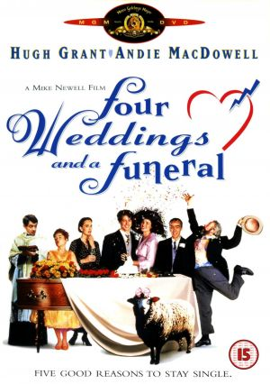 four weddings and a funeral dvd cover
