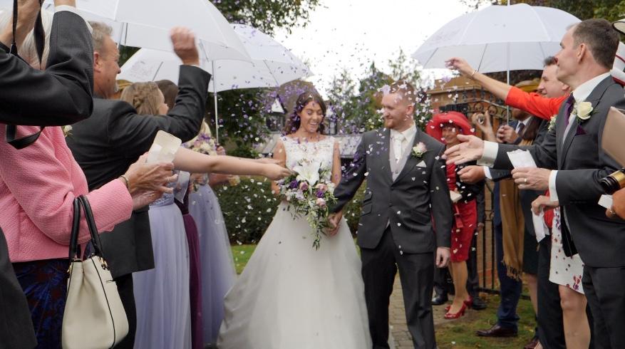 Wedding Confetti at Orsett Hall