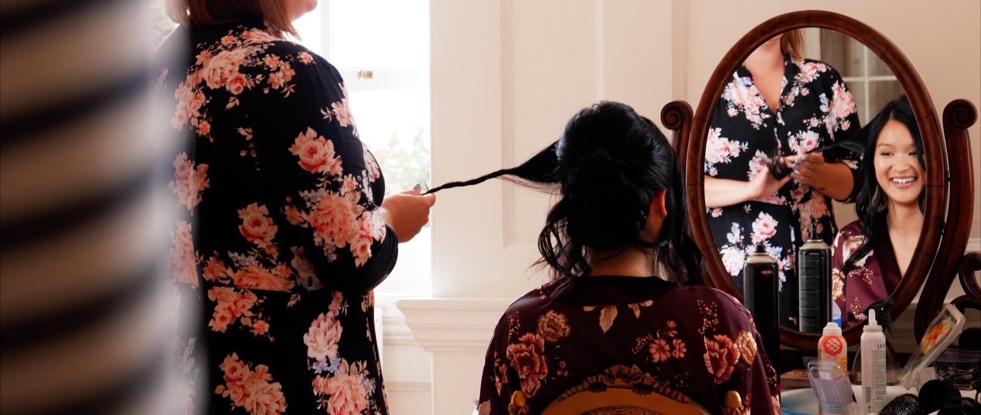 Bridal preparations at Boreham House
