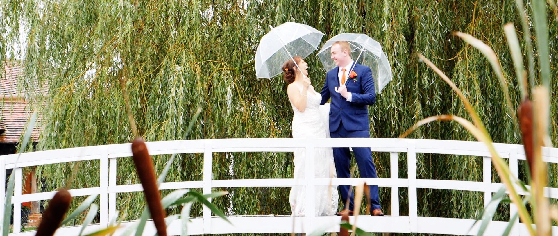 High House Wedding Couple Rain
