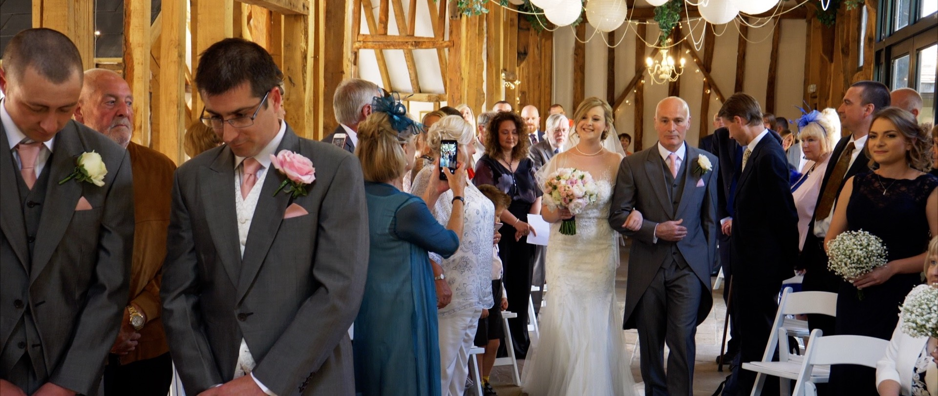 Here comes the bride at high house althorne.jpg