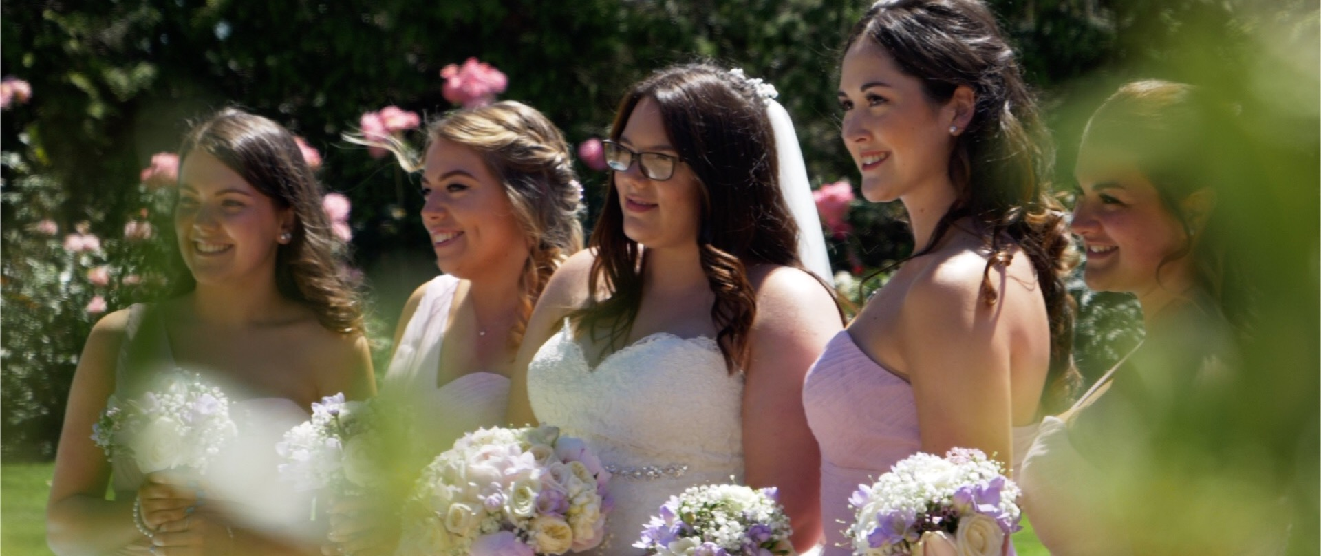 Bride and Bridesmaids at High House Essex Wedding Videos.jpg