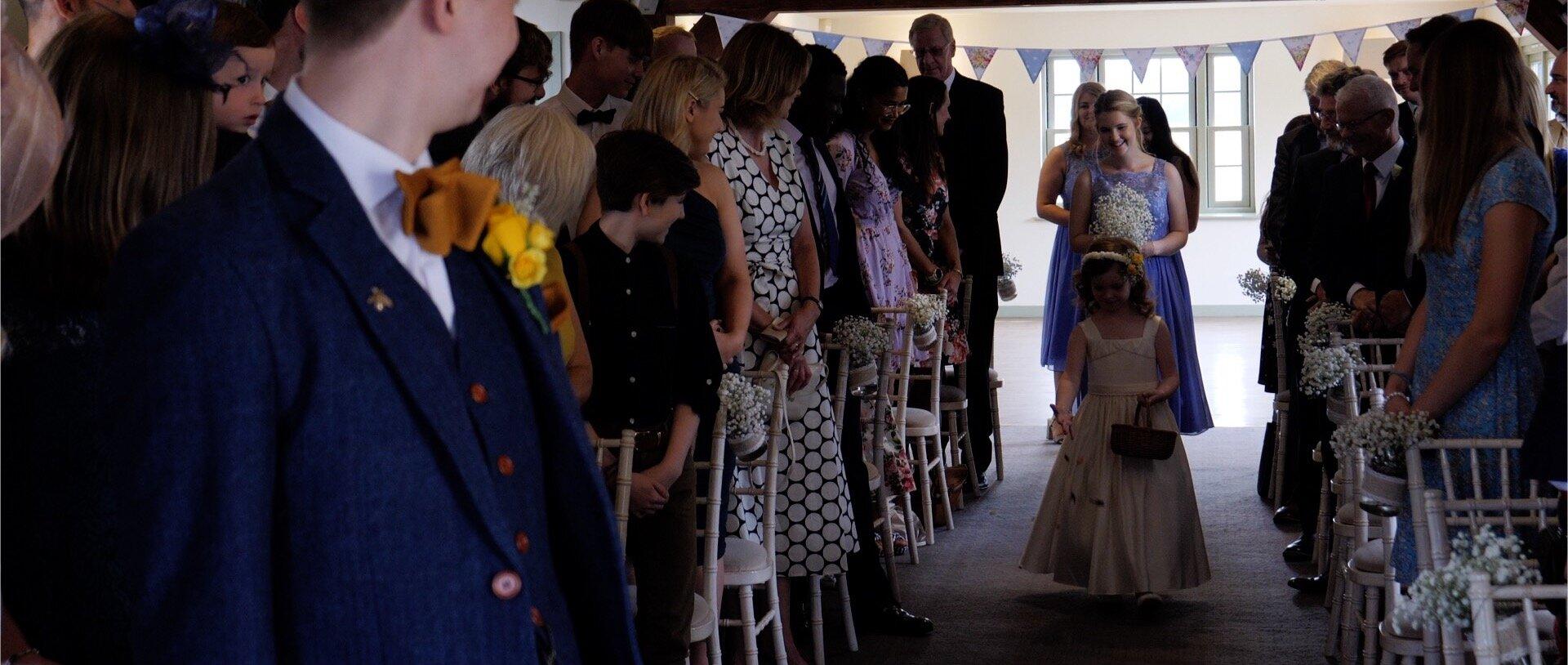 Flower girl at the compasses wedding video.jpg