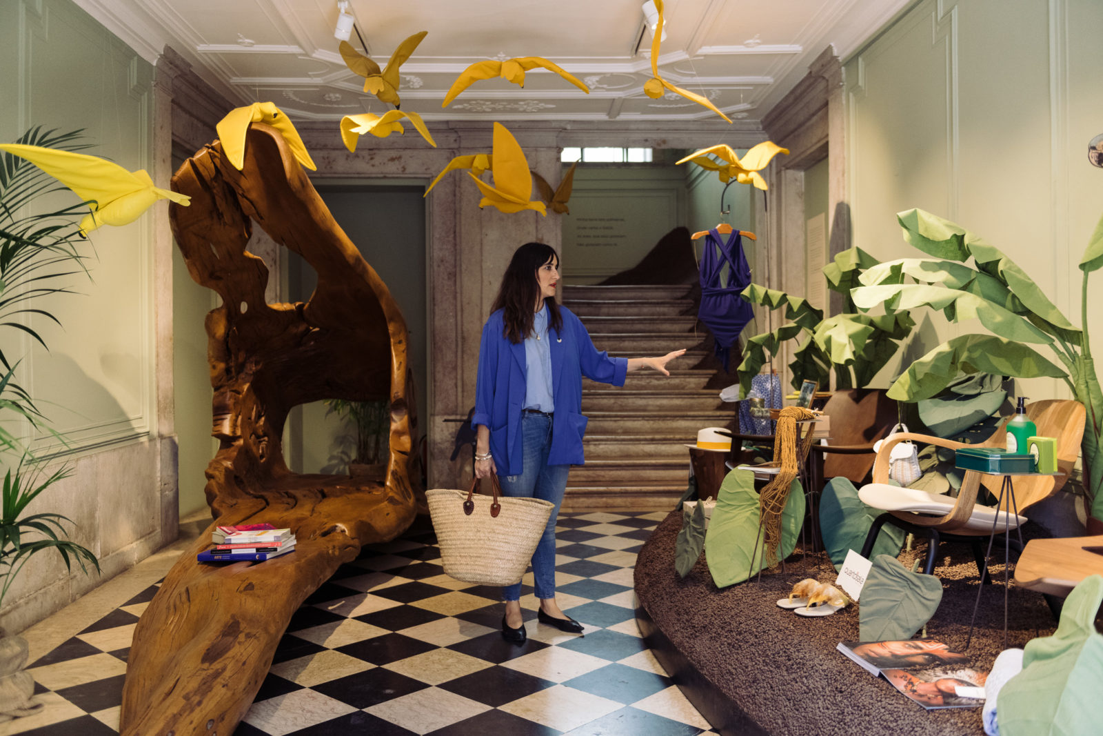 An installation by Studio Astolfi at Casa Pau Brasil