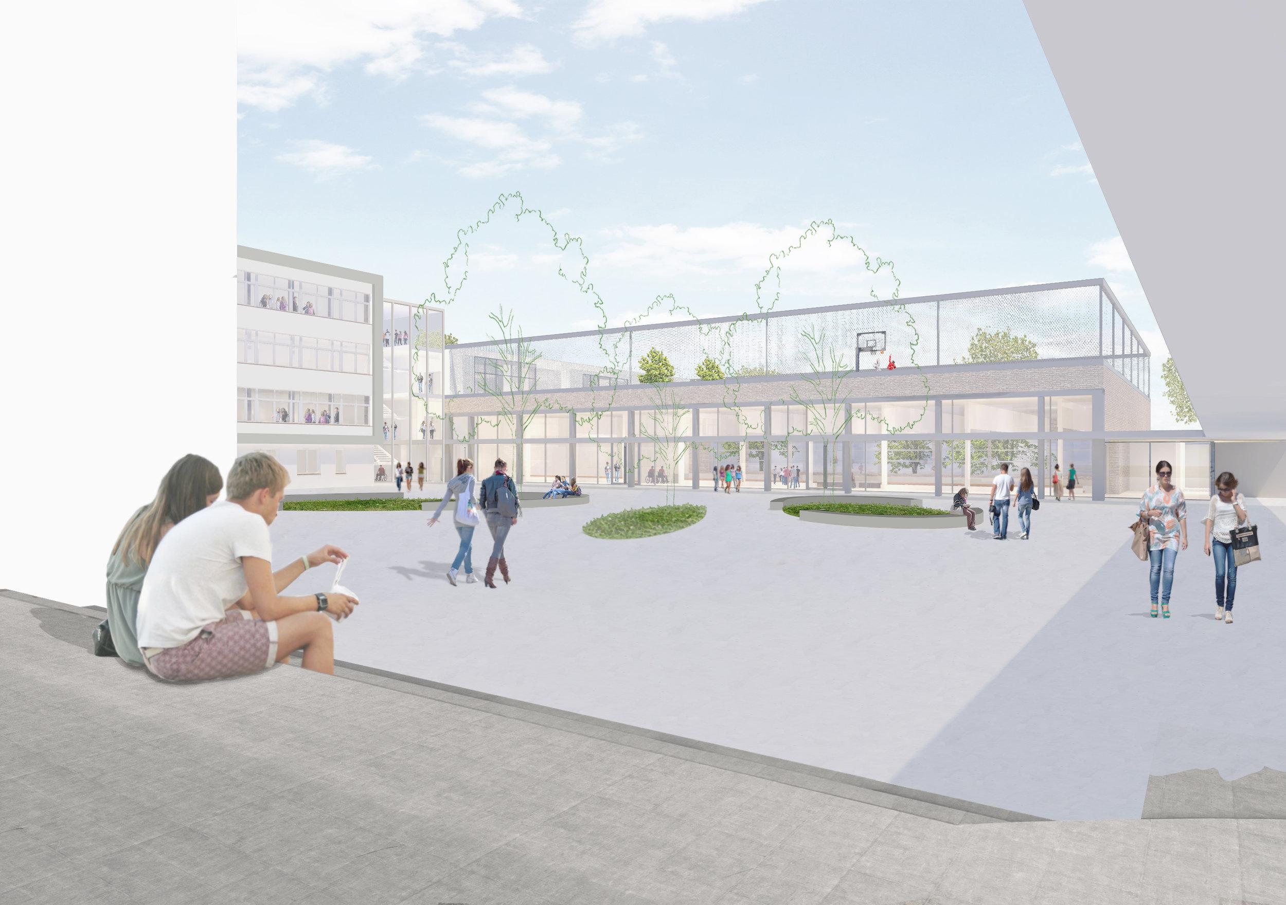 Wettbewerb - Wir freuen uns über den 3. Platz beim Wettbewerb um den Neubau einer dreifach-Sporthalle in Herford