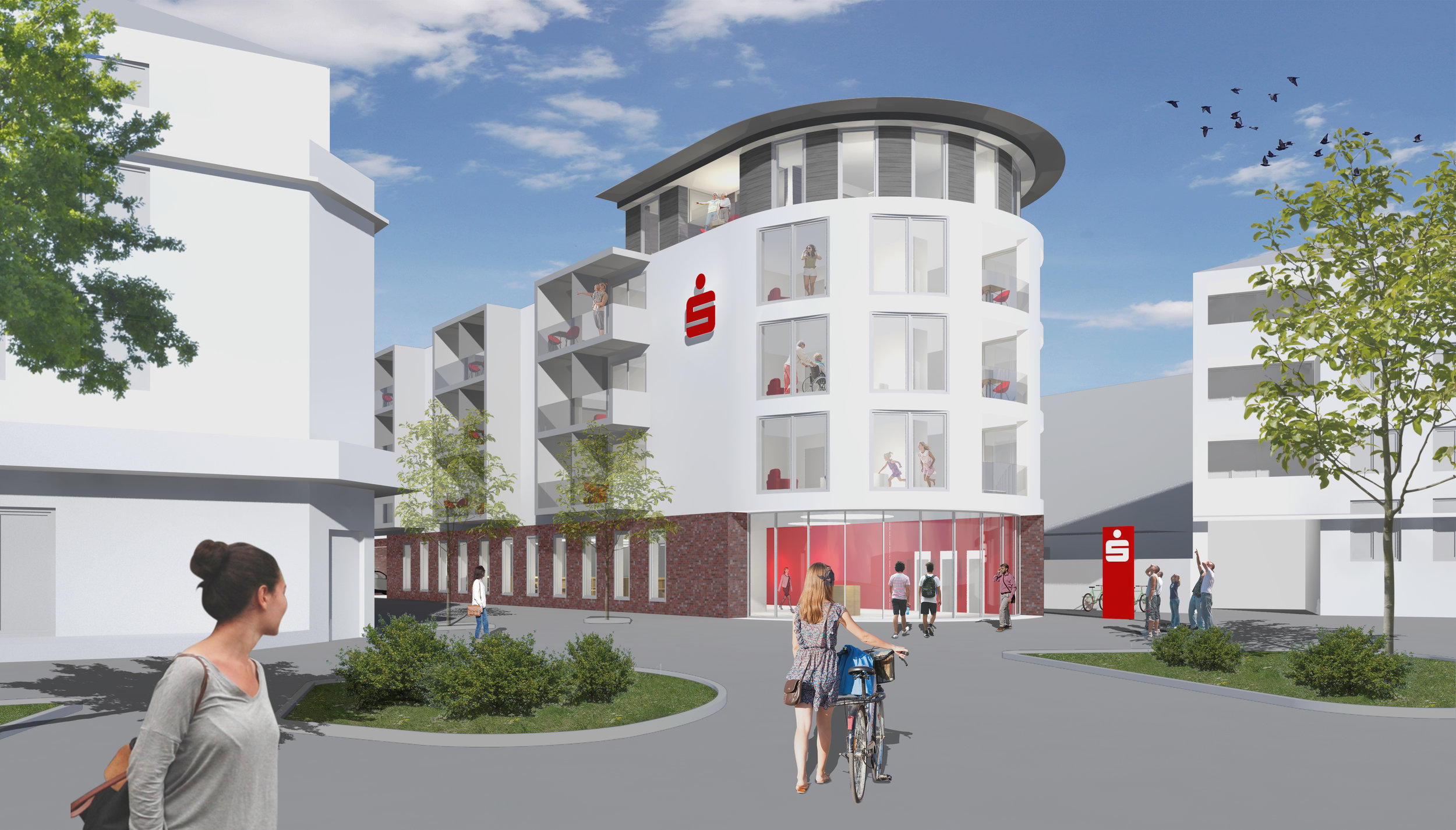 Wettbewerb - Wir freuen uns über den 1. Platz beim Wettbewerb um den Neubau eines Wohn- und Geschäftshauses mit Sparkassen-Geschäftsstelle in PaderbornMärz 2019
