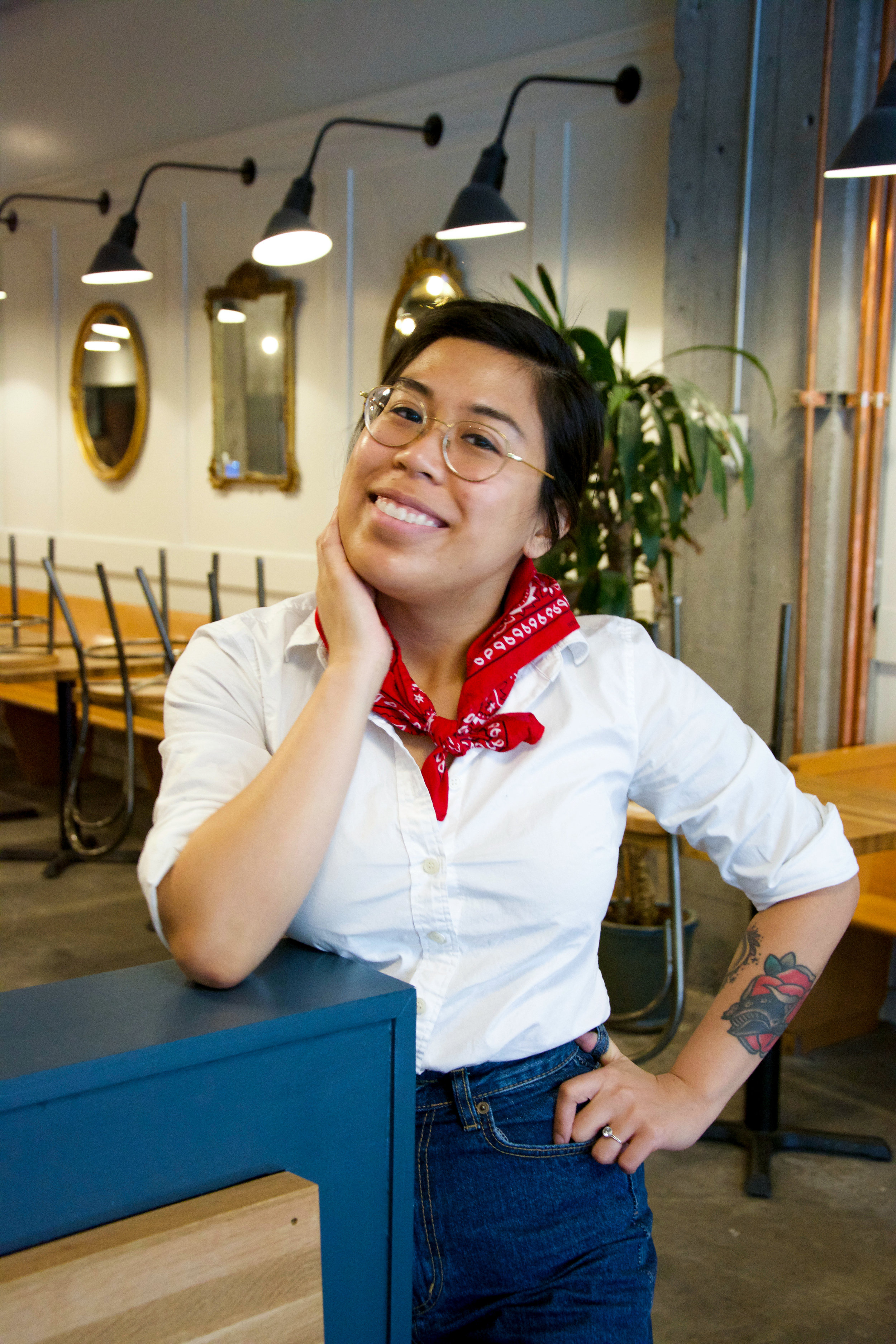 Erica Catubig/Sommelier - Catubig is the reigning 2018 Seattle Somm Smackdown Champion.The SeaHawks were once trailing 14-0 and Erica punted them back to victory. That victory stance isn't just for show.She is studying for her advanced Sommelier certification.