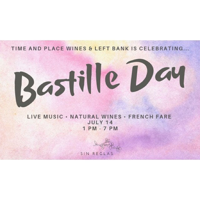 BASTILLE DAY! ⠀⠀⠀⠀⠀⠀⠀⠀⠀⠀⠀⠀ ⠀⠀⠀⠀⠀⠀⠀⠀⠀⠀⠀⠀ ⠀⠀⠀⠀⠀⠀⠀⠀⠀⠀⠀⠀ Come join us July 14th from 1pm - 7pm at @leftbankseattle to celebrate Bastille Day! There will be live music (think Django Reinhardt), natural wines from all over France curated by @timeandplacewines, and food from us! Food is from 2-7pm!